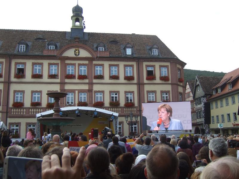 CDU-Vorsitzende Angela Merkel beim Bundestagswahlkamp 2017 in Neustadt an der Weinstraße