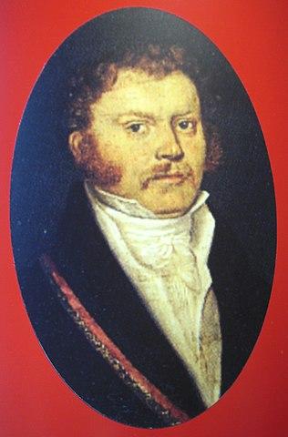 Johann Philipp Abresch (zeitgenössische Zeichnung)